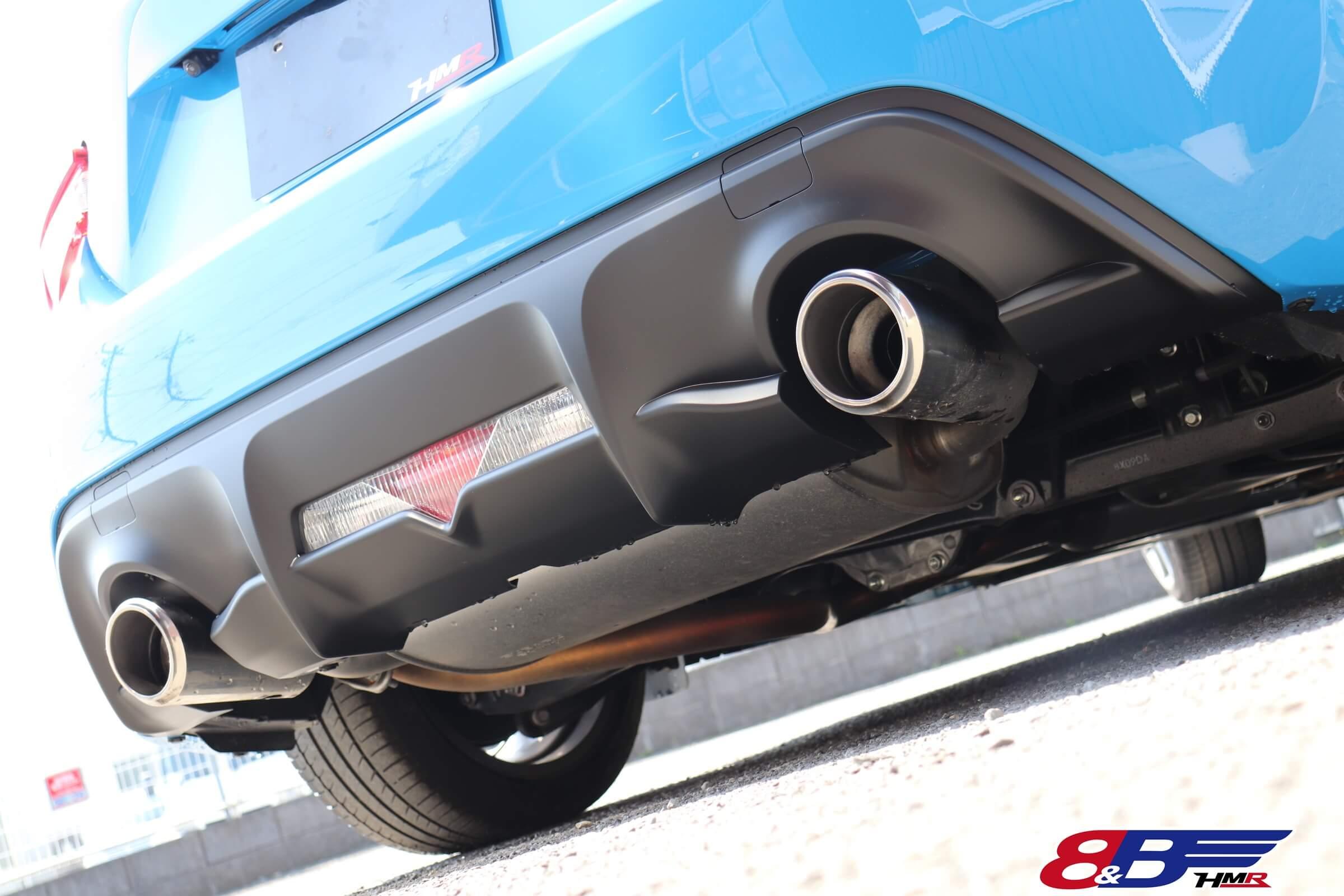 トヨタ86(ZN6)ブライトブルー マフラー
