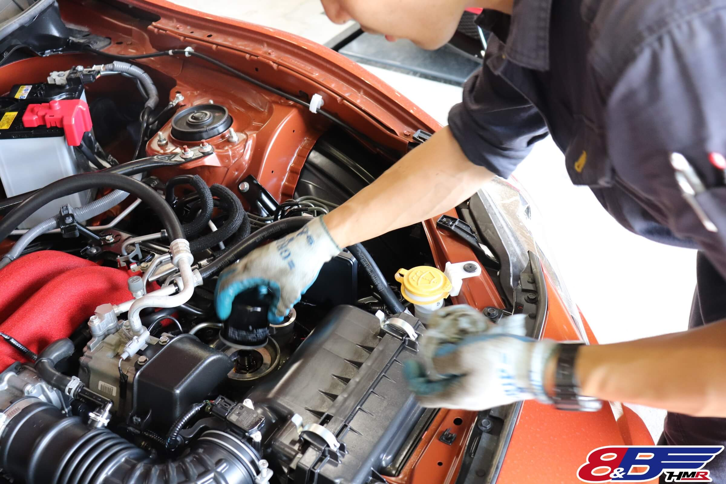 トヨタ86(ZN6)エンジンオイルフィルター交換