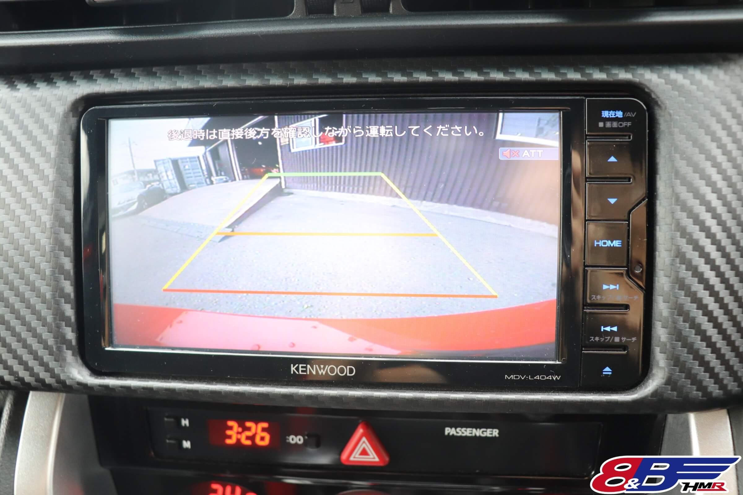 KENWOOD SDナビ(MDV-L404W)バックカメラ