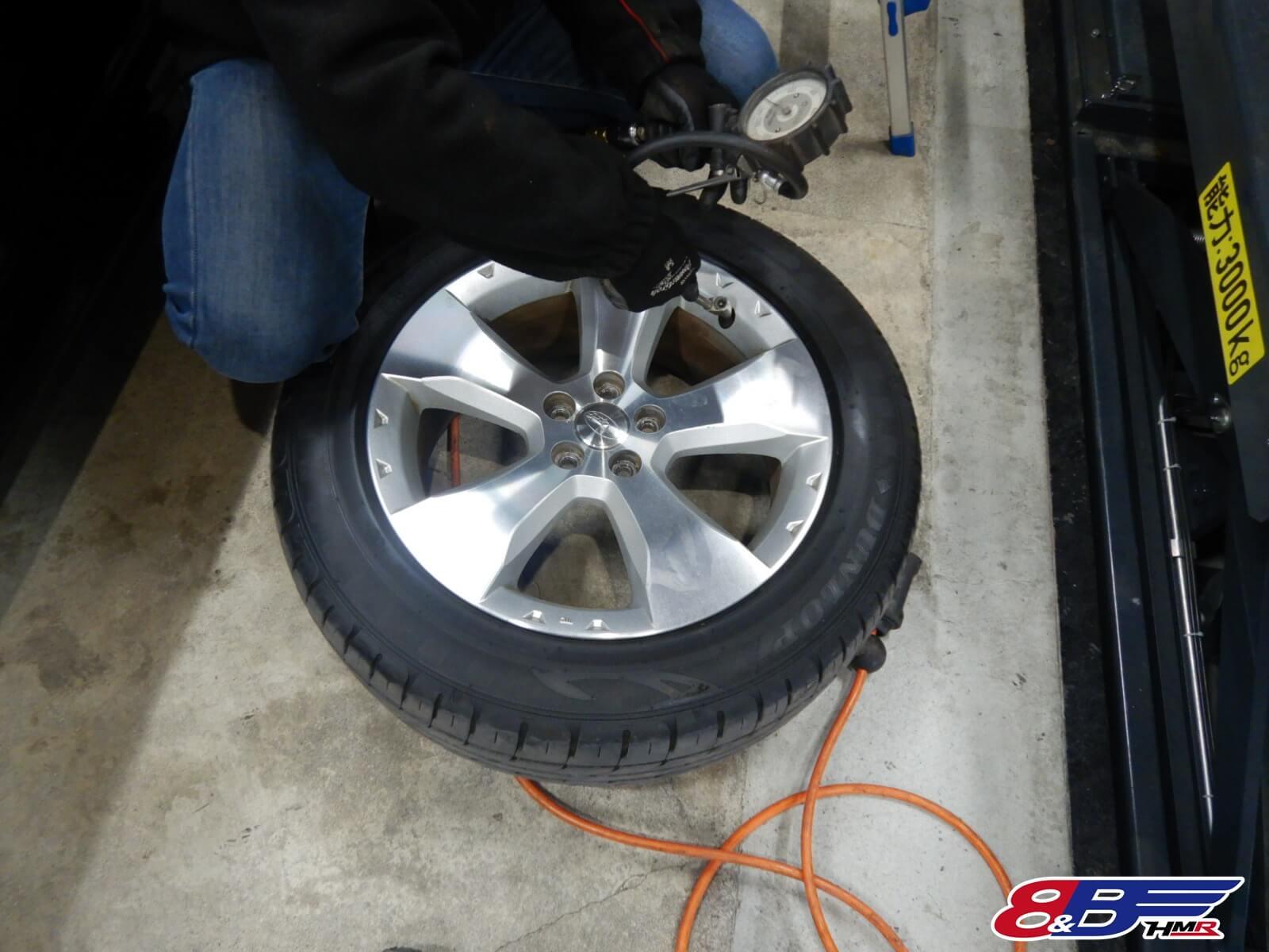 タイヤ点検 SH5