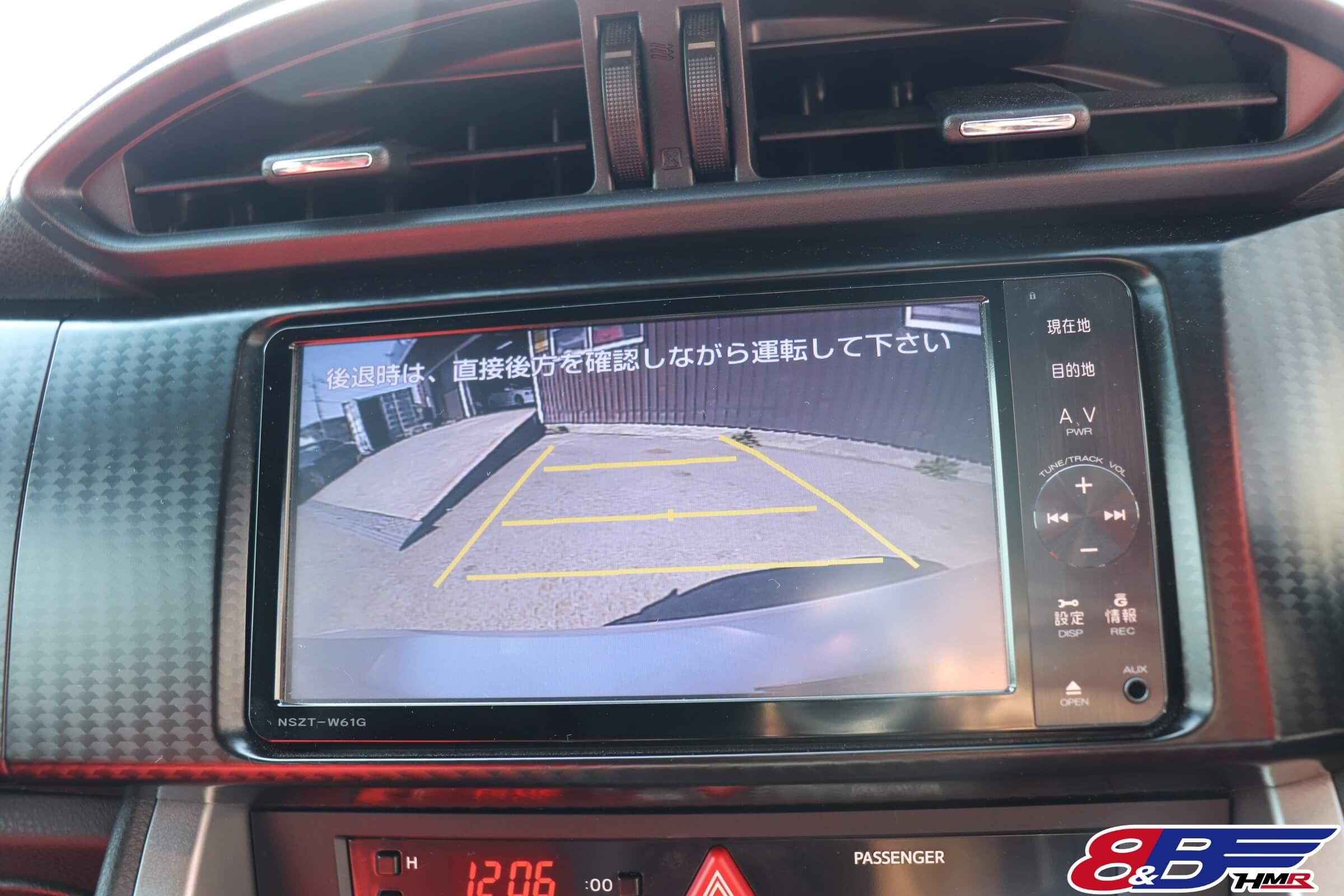 トヨタ86(ZN6)バックカメラ