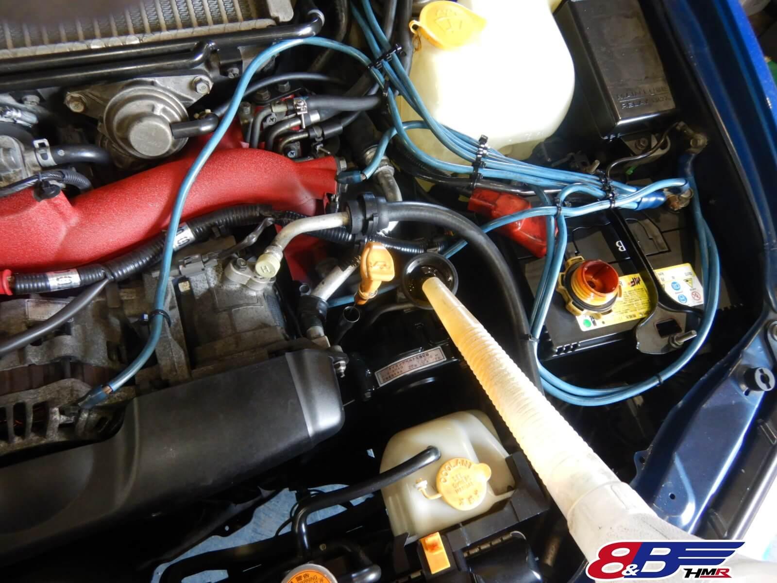 インプレッサWRX STI GDB エンジンオイル交換