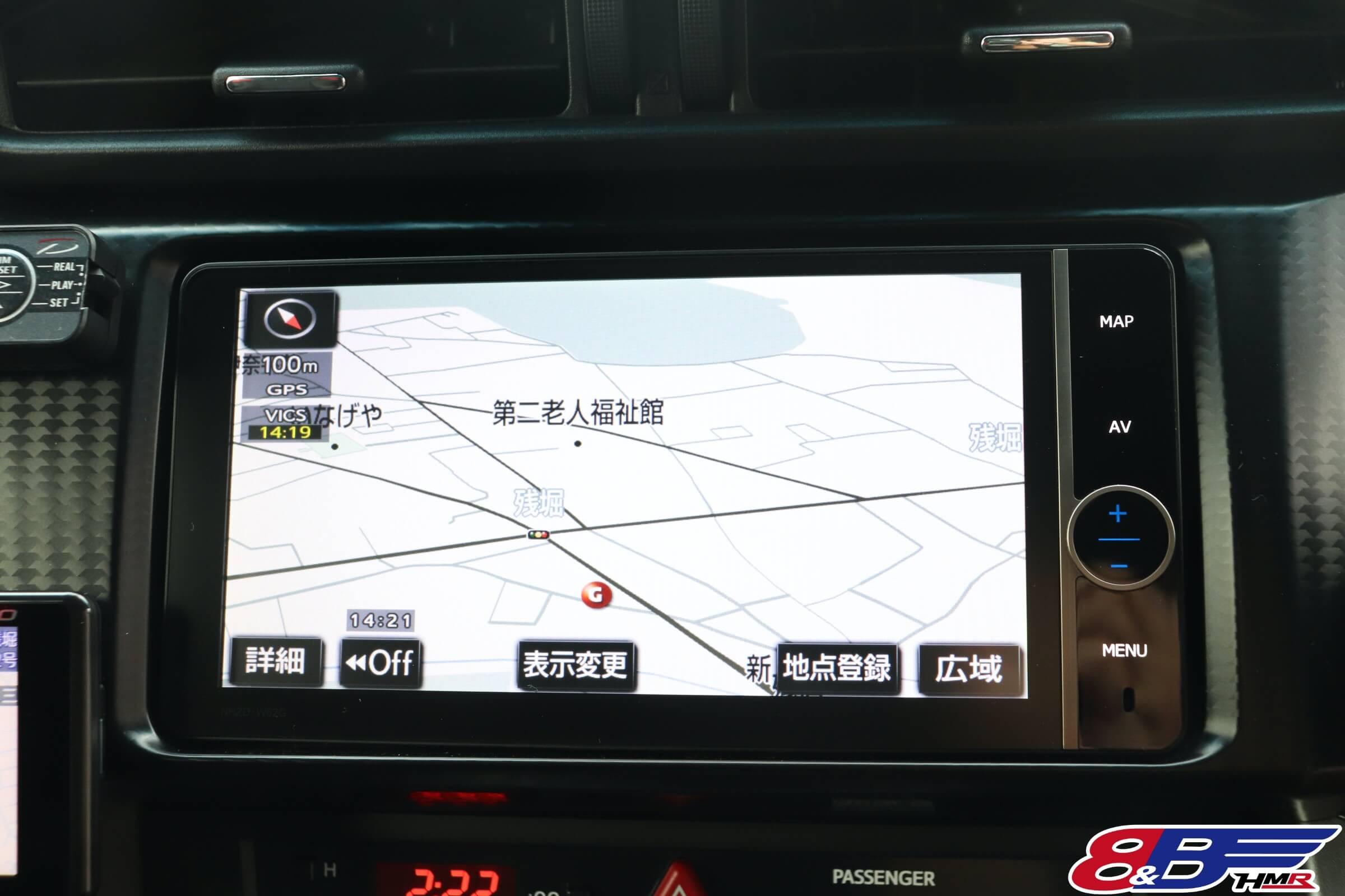トヨタ86(ZN6) トヨタHDDナビ(NHZD-W62G)