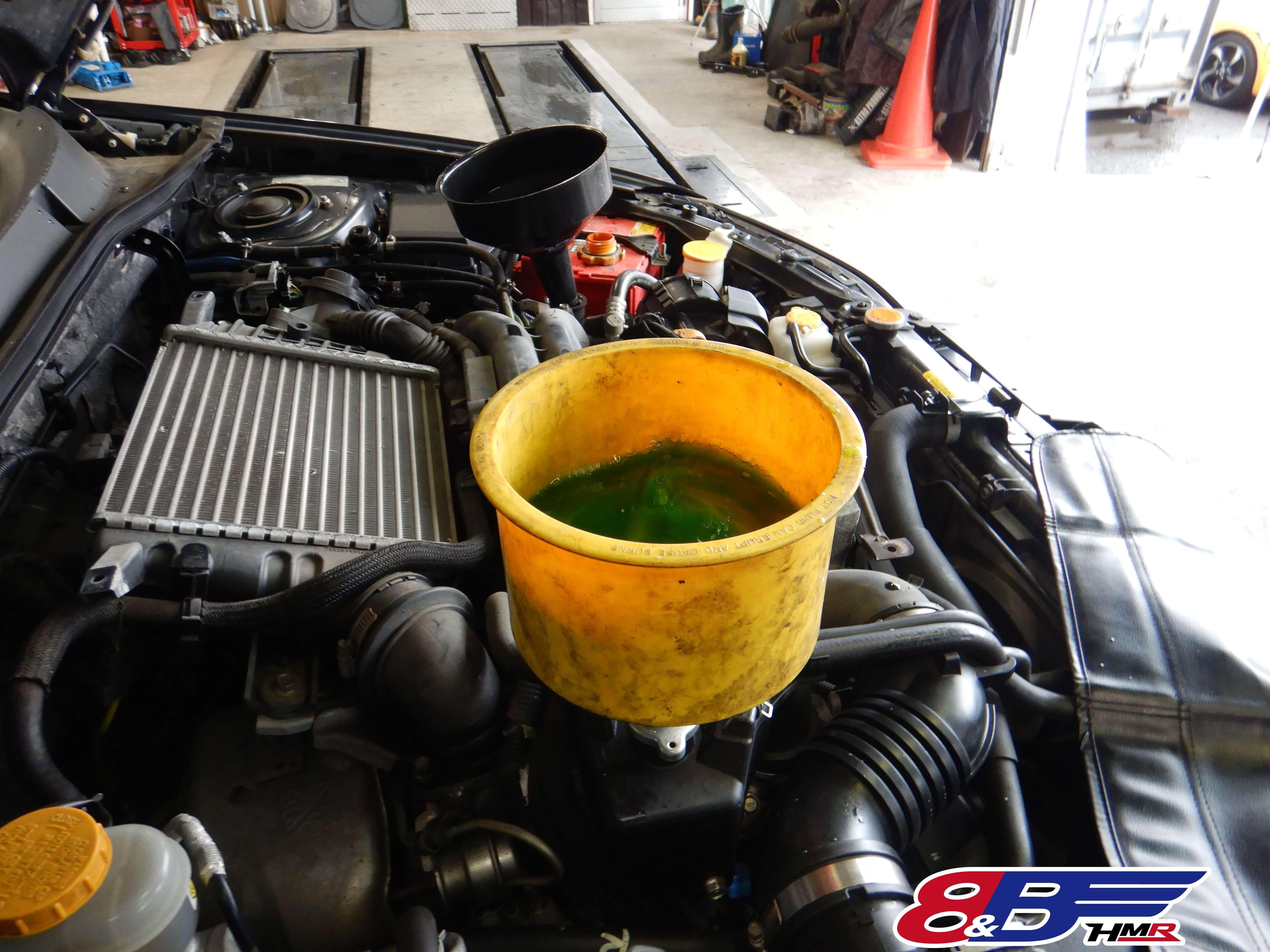 レガシィB4 BL5 冷却水交換