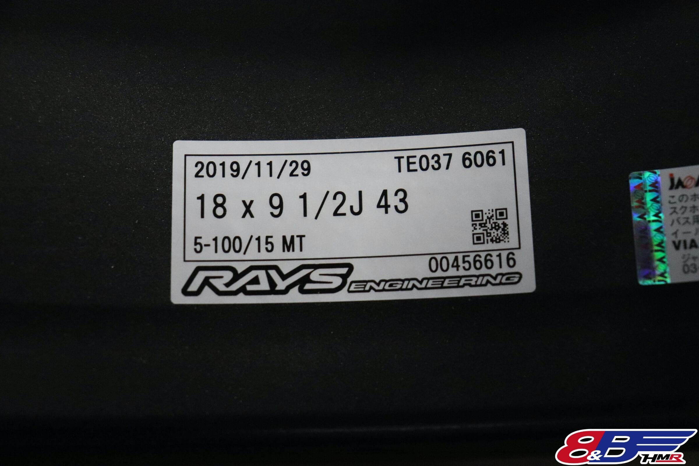 RAYS RE037 18インチ