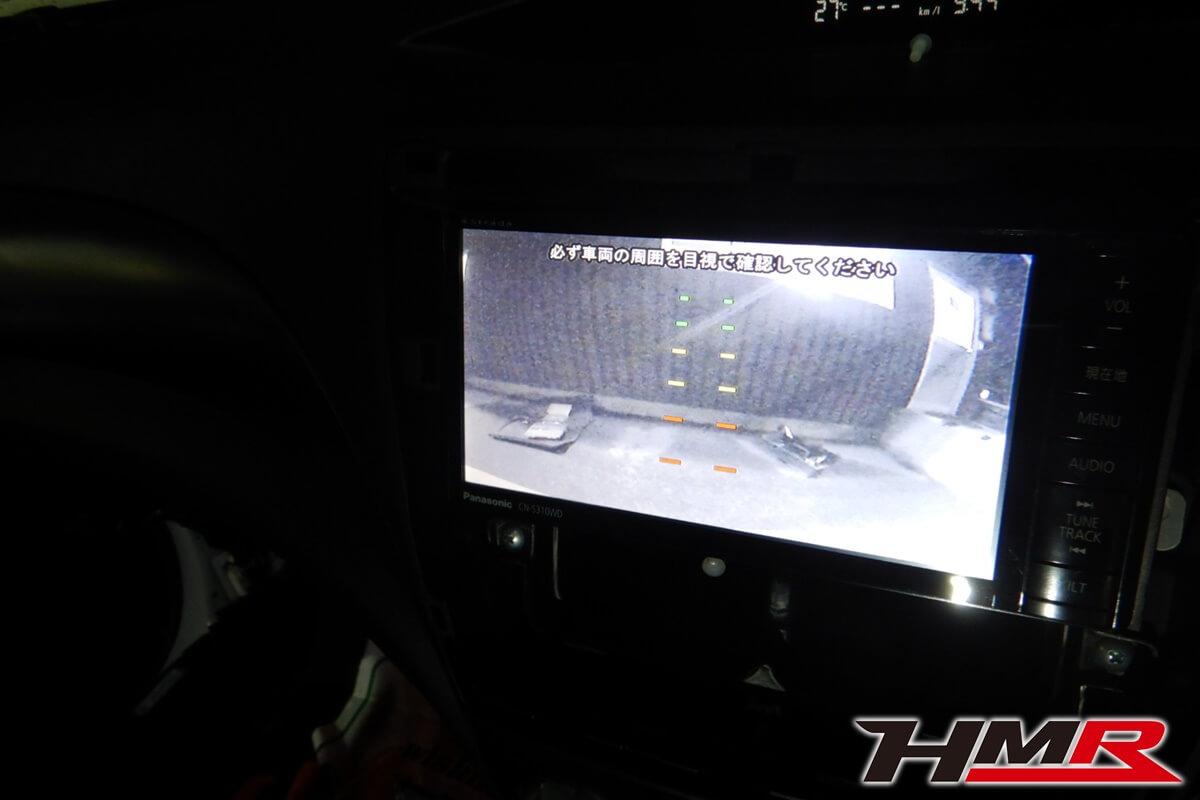 インプレッサWRXSTI(GRB)バックカメラ取付
